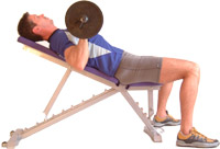 start with the bar close to your lower chest